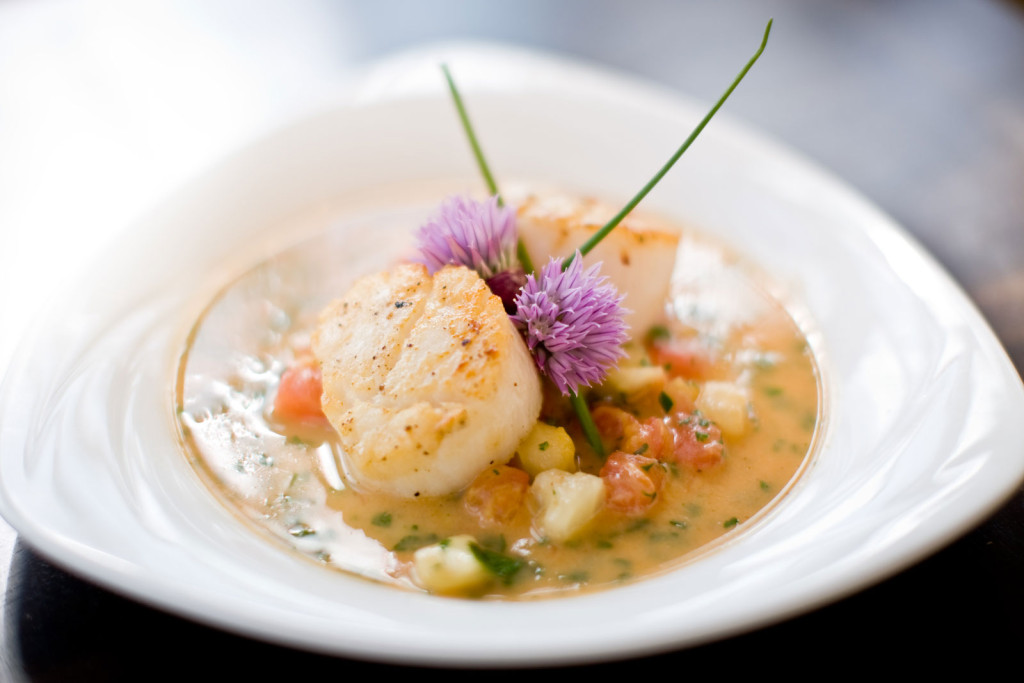 Waterfront Dining, Seafood, Scallop, Resort