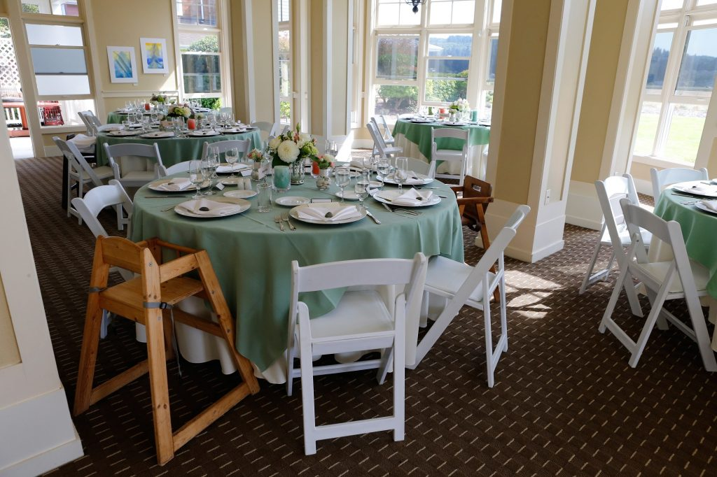 Table setting, Wedding, Waterfront Dining, Groups