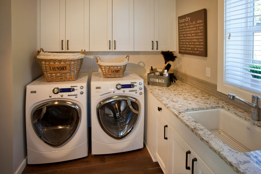 Laundry Room, New Construction, Waterfront, Olympic Peninsula