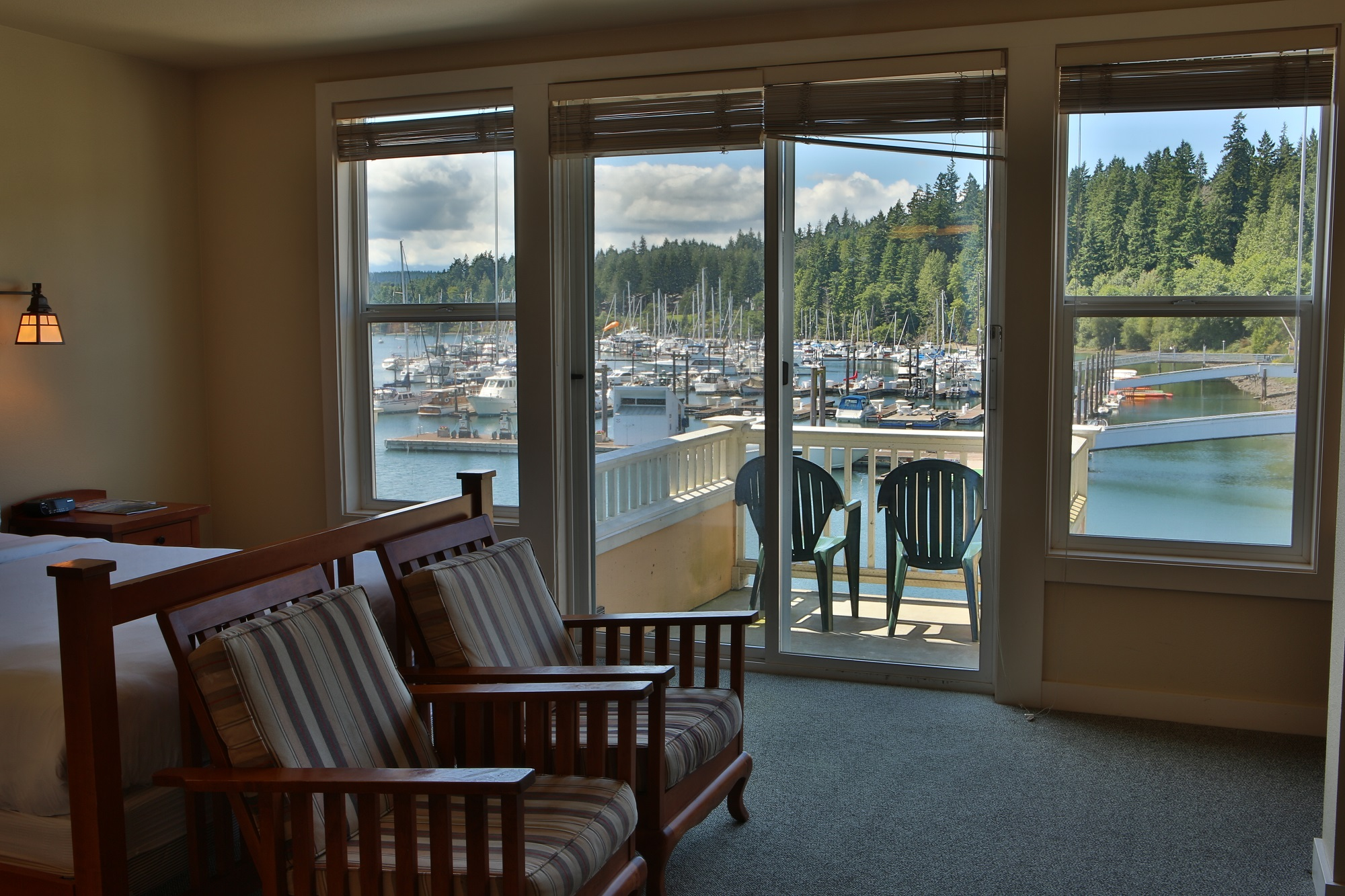 Balcony, Marina, Guest Room, Lodging, Olympic Peninsula, Resort