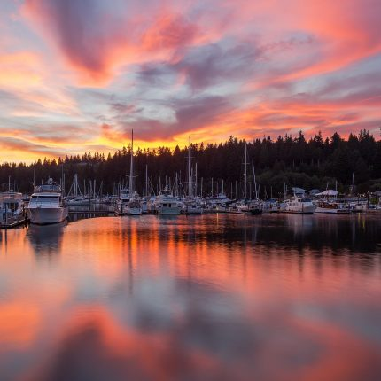 Sunrise, Olympic Peninsula, Resort, Marina