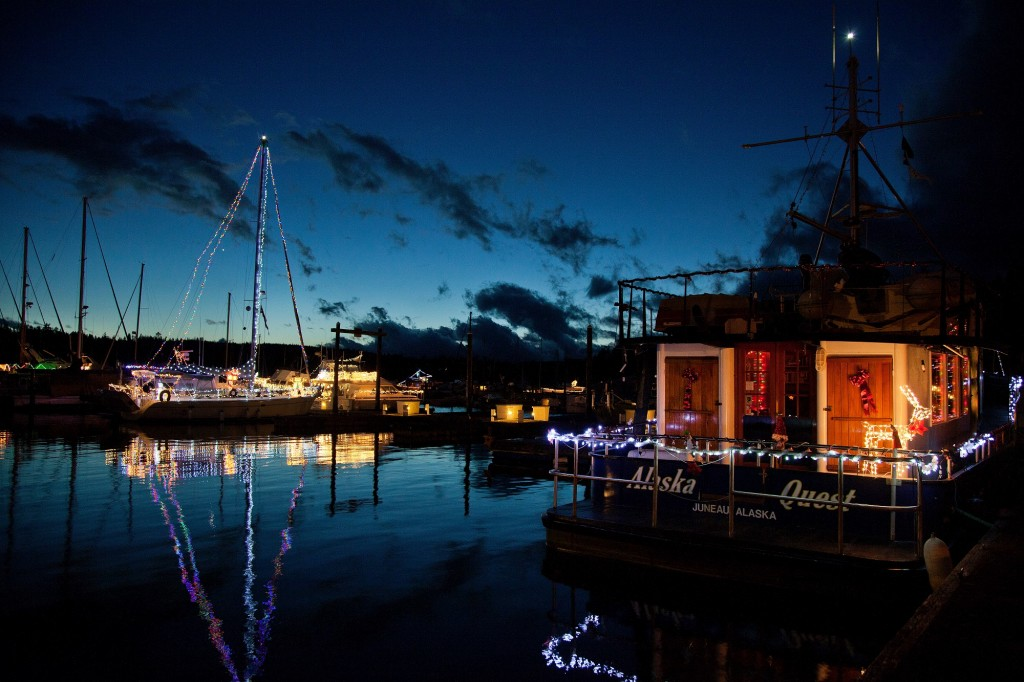 Boats, Holiday, Nighttime, Marina