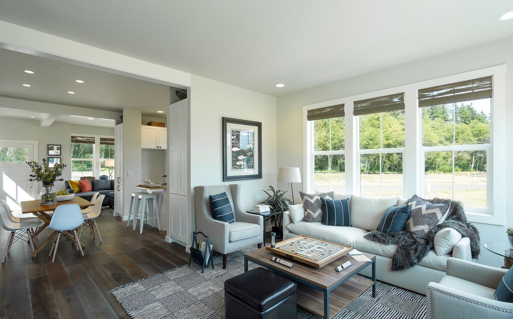 Living Room, Dining Room, Kitchen, Olympic Peninsula, Waterfront Neighborhood