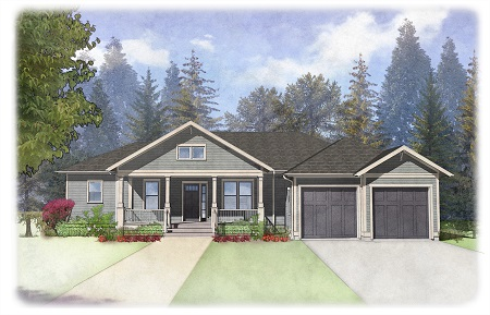 Floor plan, new neighborhood, Olympic Peninsula