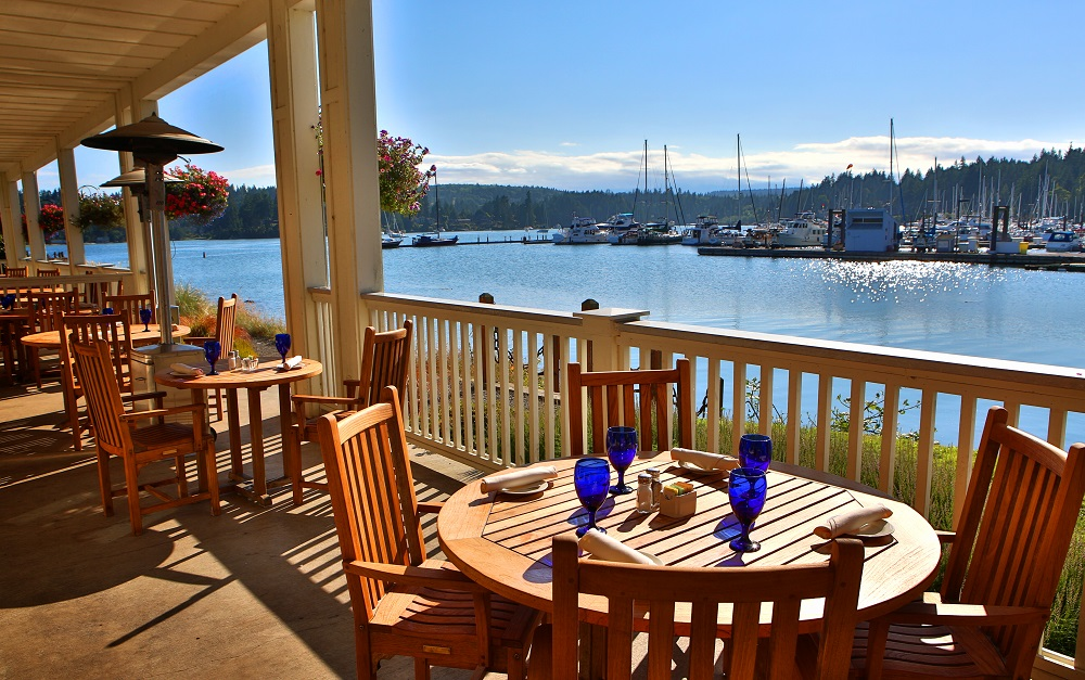 Outdoor Dining, Waterfront, Marina, Olympic Peninsula