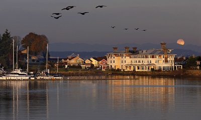View of port ludlow resort on waterfront