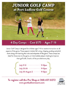 Junior Golf Camp 2018 Flyer Port Ludlow Resort